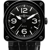 Bell & Ross BR03-92 Automatic 42mm BR03-92 Black Ceramic...