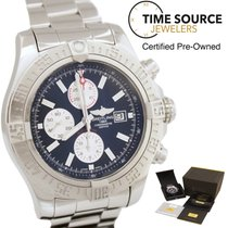 Breitling Super Avenger II Atutomatic Stainless A13371 B&P...
