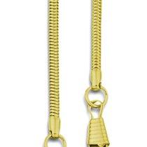 Taschenuhrketten 10 Stück: Schlangenketten vergoldet