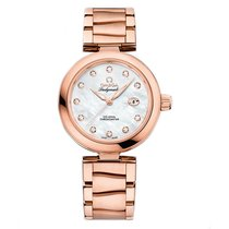 Omega De Ville Ladymatic  18k Sedna Gold Ladies watch 425.60.3...