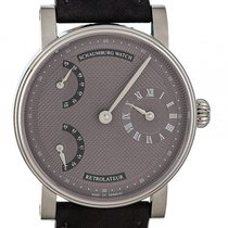 Schaumburg Watch Retrolateur Mocca Silber Handaufzug 42mm