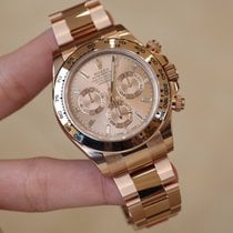 Rolex Cosmograph Daytona Rose Gold Baguette Diamonds Index Watch