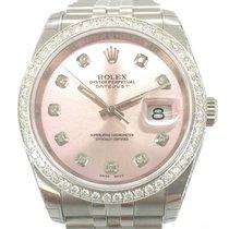Rolex Datejust Diamonds Aftermarket NEU/VERKLEBT Box/Papiere