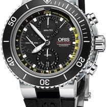Oris Men's 774 7708 4154-SET RS Aquis Depth Gauge Watch