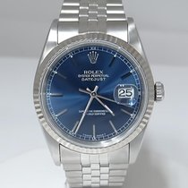 Rolex 18k & Stainless Steel Oyster Perpetual Datejust Blue...