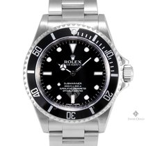 Rolex Submariner Stainless Steel Black Index Dial Black 60min...