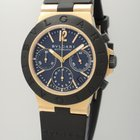 Bulgari Diagono Chronograph AC 38 -Gold 18k/750 -Box/ Papiere