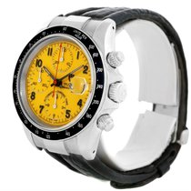 Tudor Tiger Prince Date Chronograph Yellow Dial Steel Watch 79260