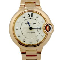 Cartier Ballon Bleu Silver Dial 18k Pink Gold DIA Women Watch...