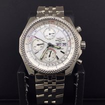 Breitling For Bentley GT Chronograph Steel 45mm White Stick...