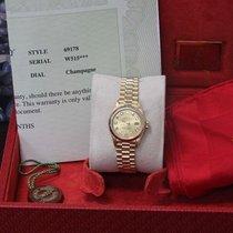 Rolex Ladies President Datejust 69178 Original Diamond  Dial  YG