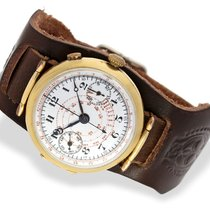 Wristwatch early, big 18k wristwatch chronograph with enamel...