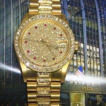 Rolex Datejust President 18k Yellow Gold Diamond/Ruby 31mm...