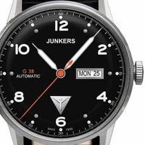 Junkers G38 6966-2 Day-Date Automatik schwarz silber 10 ATM 42 mm
