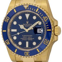 Rolex : Submariner Date :  116618LB :  18k Gold : blue dial : NEW