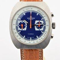 Wakmann Incabloc Blue Dial Chronograph Valjoux 7733 Watch