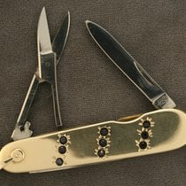 Howard 14K Blue Sapphire Pocket Watch Knife
