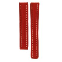 Breitling Red Genuine Leather Strap For Deployment Buckles 15mm