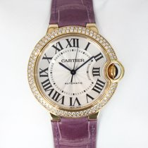 Cartier Ballon Bleu Medium 36mm 18k Yellow Gold W/ Diamonds...
