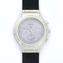Hublot Elegant Chronograph Steel Diamond Watch