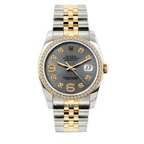 Rolex Datejust Men's 36mm Gray Dial Yellow Gold And...