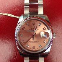 Rolex Oyster Perpetual Date 34 Stahl Weißgold 115234 Diamanten ZB
