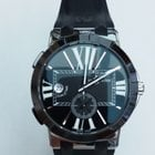 Ulysse Nardin Executive Dual Time Black Dial Black Strap
