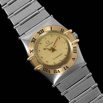 Omega Constellation Mini 22mm Watch, 18K Gold & Stainless S