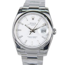 Rolex Oyster Perpetual Stainless Steel White Automatic 115200WT