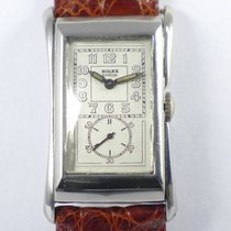 Rolex Prince Art Deco - in Edelstahl - very rare Doctors Watch
