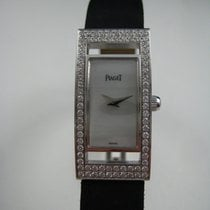 Piaget Limelight 18k white gold & diamonds with silk strap