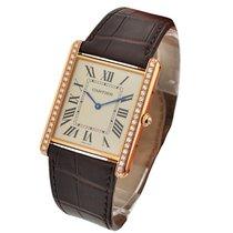 Cartier WT200005 Tank Louis Cartier Extra Flat - Diamond Bezel...