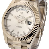 Rolex Used 218239_used_silver_stick White Gold Mens Day Date...