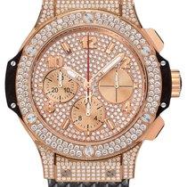 Hublot Big Bang 41mm 18K Rose Gold Black Rubber Unisex Watch