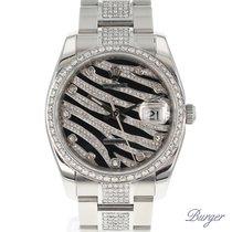 Rolex Oyster Perpetual Date 34 Zebra Diamonds