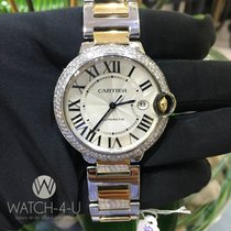 Cartier Ballon Bleu 42mm 3001 18k Yellow Gold / Steel 2ct Diamond