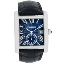 Cartier Tank Mc Blue Dial Automatic Mens Watch Wsta0010