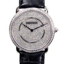 カルティエ (Cartier) Ronde Louis Cartier 18k White Gold Silver...