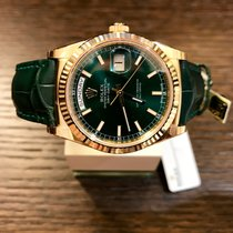 Rolex Day-Date 36 Yellowgold Green 118138