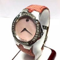 Movado Sports Edition Steel Ladies Watch W/ Factory Diamonds G...
