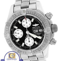 Breitling Superocean Chronograph A13340 Black 42mm Day Date...