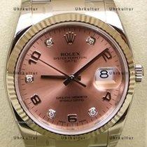 Rolex Date, Ref. 115234 - rosa arabisch Diamant Zifferblatt
