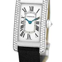 """カルティエ (Cartier) """"Diamond Tank Americaine"""" Strapwatch."""