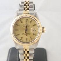 Rolex Datejust 18k Gold Steel Ref 69173 (Box) Sapphire Glass