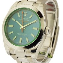 ロレックス (Rolex) Unworn 116400 GV Milgauss Green Crystal with...