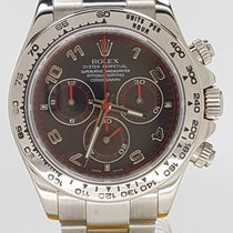 Rolex Daytona 18k WG Black Arab Racing Dial