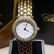 Chopard yellow gold diamond bezel