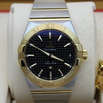 Omega 123.20.38.21.01.002  Constellation Black Dial Stainless...