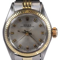 Rolex Lady Oyster Perpetual Vintage Steel and Gold Watch,...