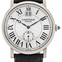 Cartier W1550751 Retonde Large Date in White Gold - on Black...